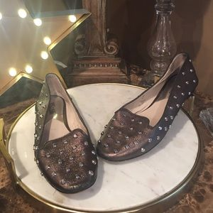 Michael Kors Flats Shoes Metalic Gold Studs 8.5